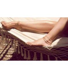 New Beach Fashion Multi Tassel Toe Bracelet Chain