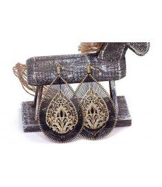 Vintage earring handmade knitted bohemia