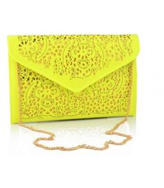 Vintage National Women's Trend Handbag Cutout Envelope Bag