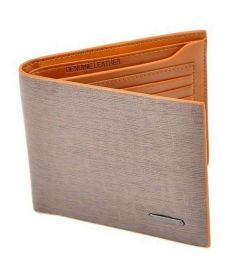 Men Leather Wallet Pockets Card Clutch Bifold Purse Light Brown
