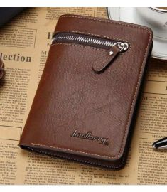 Short Men Wallet Leather Zipper Clip Day Clutches Purse