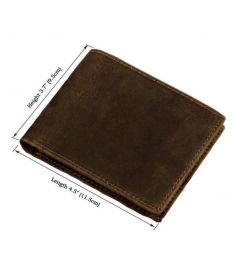 Horse leather wallet purse men genuine leather short design wallets retro two-fold multi-card billfold