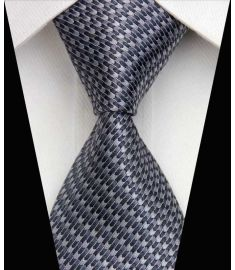 Dot Stripe Classic 100% Silk Neck Tie Design 8