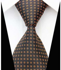 Dot Stripe Classic 100% Silk Neck Tie Design 12