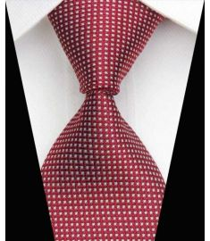 Dot Stripe Classic 100% Silk Neck Tie Design 13