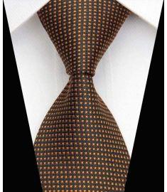 Dot Stripe Classic 100% Silk Neck Tie Design 16
