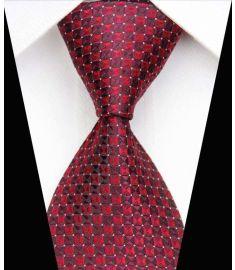 Dot Stripe Classic 100% Silk Neck Tie Design 20