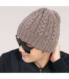 Men's Knit Winter Hat Beanie Skull Warm Hip Hop Cap sombreros de invierno