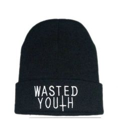 New Style Wasted Youth Beanie Wool Knitted Hat Hip Hop Cap BBOY Beanie Autumn Winter For Men Women Cap Free Shipping