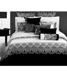 Classic Retro printing duvet/quilt cover king queen size 4pcs black white bedlinen bed sheet cotton bedclothes bedding sets