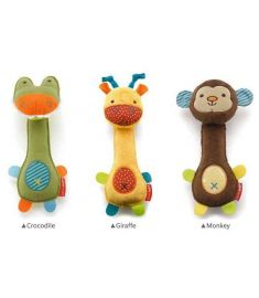 3 designs Soft Animal Model Handbells Rattles ZOO Squeeze Me Rattle Cute  Gift Baby toy Age for 3M+
