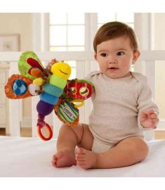 Multifunctional toy butterfly Plush toys multi touch function hold my baby toys