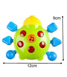 6pcs/lot New Lovely Plastic Baby Toys Hand Shake Bell Ring Rattles toys Baby Educational Toys
