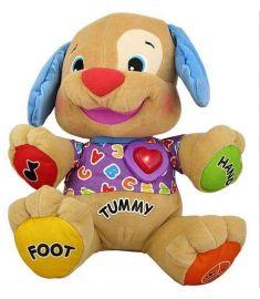 Fisher Dog Baby Musical Plush Electronic Toys Plush Dog toy Singing English Songs Learning&Education Puppy Toys
