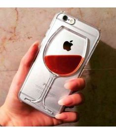 Red Wine Cup Liquid Case Cover For Apple iPhone 6 6 Plus 5 5s 4 4s