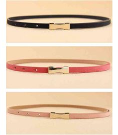 7 colors fashion women leather belt Factory wholesale Small simple lady belt Waist Accessories