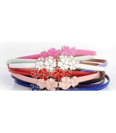 Colorful  cheap patent leather shiny lady leather belts