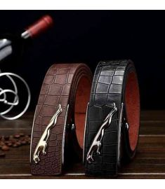 Leopard Plate Buckle Men Belt