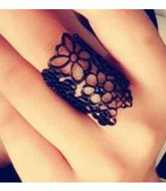 Cutout Lace Flower Women Ring Finger