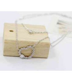 Double Shiny Heart-Shaped Drill Elegant Necklaces & Pendants