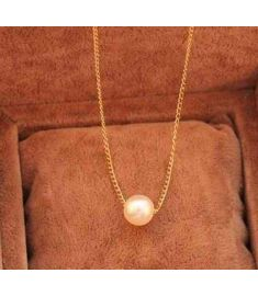 Elegant Faux Pearl Long Chain Necklace