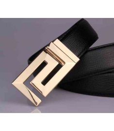 High QuESty 100% Genuine Leather Gold Buckle Cowboy Hip Strap Cintos