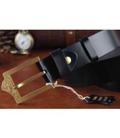 Solid Brass Buckle Genuine Leather Brand Men Medusa Belt