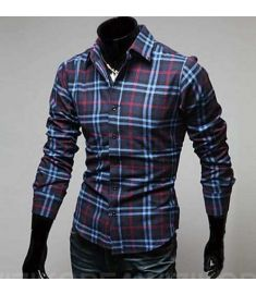 Stitching Striped Shirt Men Short Sleeve Camisa Jeans