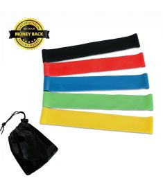 Pack of 5 - Resistance Exercise Bands - Home Exercise