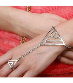 Triangle Hand Bracelet Finger Bangle Slave Chain