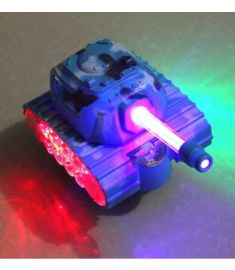 Electric Tank Model Music Light Plastic Toys