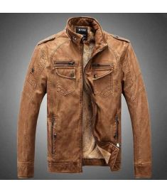 Man Lether Jackets Pu Leather
