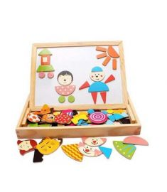 Multifunctional Wooden Family Magnetic Puzzle