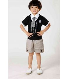 Baby Boy Clothes Tie Blouse and Short Pants