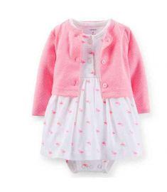 Cotton Romper Dress Infants Cardigan Jacket