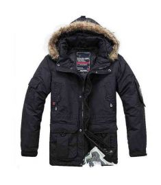 Winter Coat For Men Thick Plus Size  Fur Collar