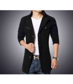Winter Jacket Men Turnd-down Collar Slim Fit