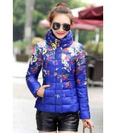 Women Cotton Jacket Floral Printing Long Sleeve