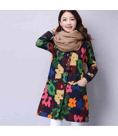 Women Elegant Prints National Trend Jacket