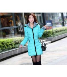 Womens Hooded Cotton-Padded Jacket