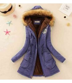 Women Casual Outwear Military Hooded Coat