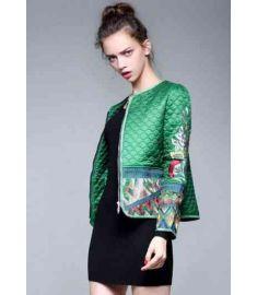 Women Vintage Royal Embroidery Slim Ladies Jacket
