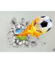3D Football  Background Wall Sticker