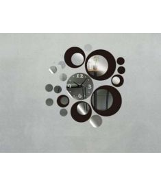 Circles Acrylic Mirror Style Wall Clock