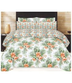 3 Piece Printed Bedspread with quilt cover and pillow cover