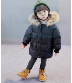 Kids winter jacket Warm Hooded Outerwear Clothes