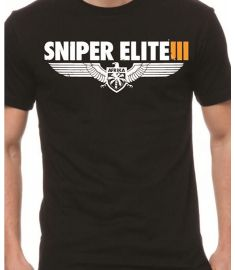 ggtees Sniper Elite Printed Black T Shirt