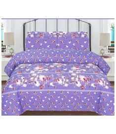 3 Piece Printed Quilt Set Cotton-Polyester Bedspread with quilt cover and pillow cover