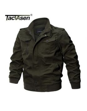 TACVASEN Military Jacket Men Winter Cotton Jacket Coat Army Men's Pilot Jacket Air Force