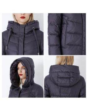 Winter Women's Jacket Thick Layer Bio Fluff a Sewn Hood Warm Women's Coat